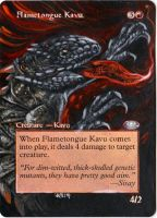 Magic Card Alteration: Flametongue Kavu 3/16/14 by Ondal-the-Fool