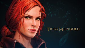 The Witcher Adventure game art Triss by Scratcherpen