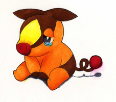 Sad Tepig by MissFluttershy