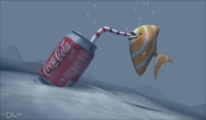 Coca Cola - Fish by DarkLimitArts