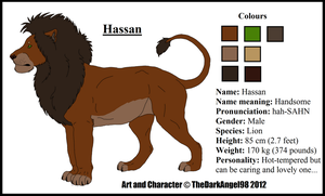 Reference Sheet of Hassan by LupusAvani