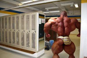 Waddeling into the locker by BBbelly