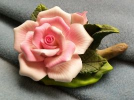 Pink Ceramic Rose III by Jenna-RoseStock