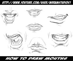 How to Draw Mouths / Various Poses by ramstudios1