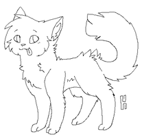 Cat Lineart by Nouchie