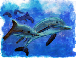 Dolphins are love by Lythiia