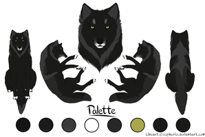 Paypal Commision- Wolf 2- Black and Grey by LadyLirriea