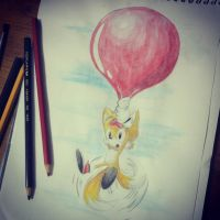 Tails in watercolor by ConceptArtSX