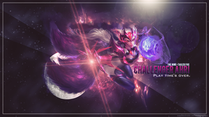 [League Of Legends]Challenger Ahri Wallpaper by SonasGraphics