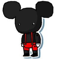 Mickey sticker by Death-of-all