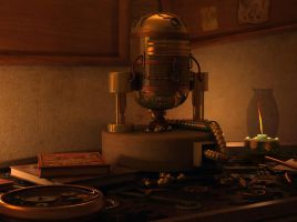 Steam-punk R2D2 by Cocolicous