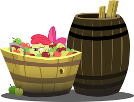 Apple Bloom lies in wait by AgryX