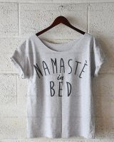 Namaste In Bed, Oversize Off Shoulder T-shirt by DiegoArragon