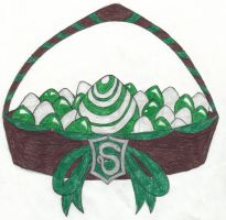 Slytherin House Easter Basket by angelcollina