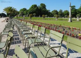 Chairs within Jardin du Luxembourg by EUtouring