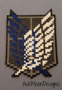 Attack on Titan Survey Corps Perler Bead Logo by AshMoonDesigns