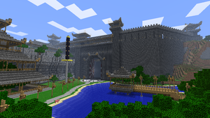 Minecraft - Tsuchi Iwa Castle by Ludolik
