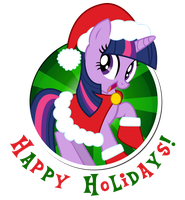 Twilight Sparkle - Happy Holidays by CaliAzian