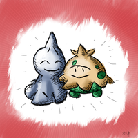 Shroomish and Shuppet by ToadsDontExist