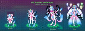 TDA: Fabulamon's Evolution Line by FairyAurora
