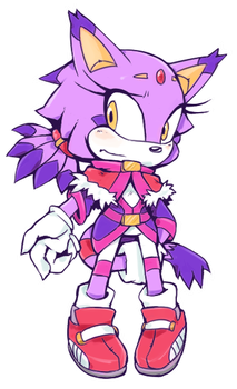 Makeover - Blaze the Cat by Cylent-Nite