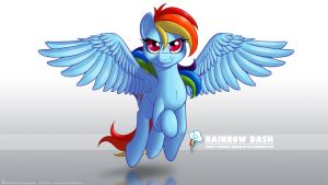 Wallpaper - Rainbow Dash by Indivicolours