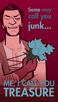 Skyrim Valentines - Belethor by oxboxer