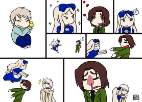 Hetalia: Lithuania-Belarus mini-comic by ChibiCorporation