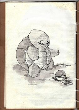 Inktober 2016 #19 Squirtle by GiulianoBompeixe