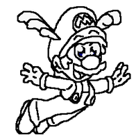 Free Drawn Wingcap Mario FREE TO USE by IcePony64