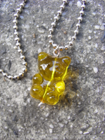 Yellow Gummy Bear Necklace by MuffinSquee