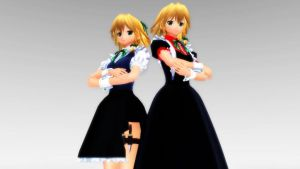 [MMD] Two Maid Girls by iMACobra