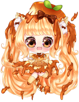 Caramel Flan Kitty by Purrsephone-Kitten