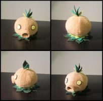 Little deku scrub plush from Zelda by Miss-Zeldette