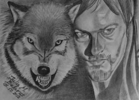 The Walking Dead...Daryl - Wolf by juli1612