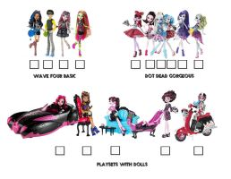 Monster High Visual Checklist Page 4 by BackinDrac