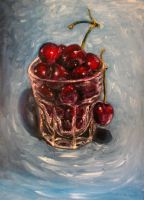 Cherries oil painting by belka10