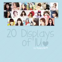 Pack 20 Displays of IU by NyappyGirl99