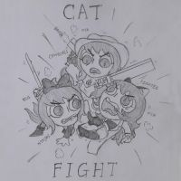 Cat FIght by ejaylee