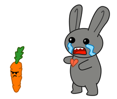 Emo Bunny and Mr. Carrot by DangerPins