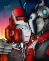 I Love You- TFP Optimus and Causeway by LadyElita-Arts