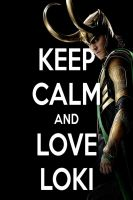 KEEP CALM AND LOVE LOKI by AMEH-LIA