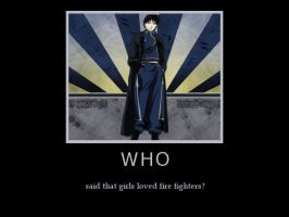 Demotivation.Roy Mustang against stereotypes. by Kittylyn-Donut