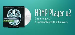 Mamp Player v2 Cd Cover Rainmeter Player Skin by blackface16
