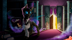 Changeling in library Commission by Ashley-Arctic-Fox