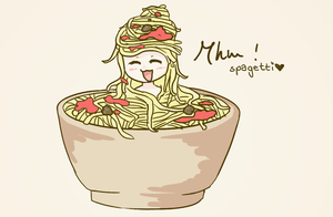 Sitting in the Spagetti. by ayaan