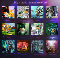 Elly's Art Summary 2013 by EllyTheGee