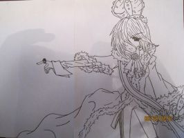 Red Queen pencil by mangajustice