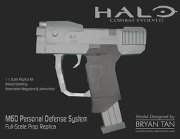Halo - M6D Pistol Papercraft Replica by RocketmanTan