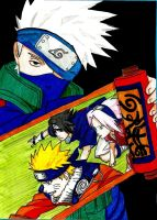 Kakashi's students scroll by NarutoUchiha666